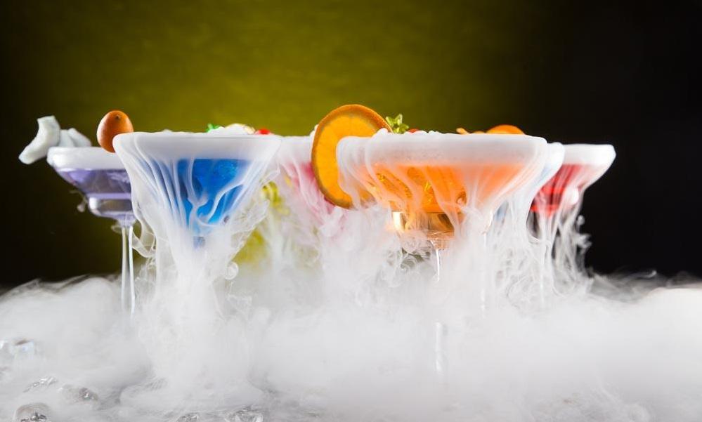 干冰在酒吧中的应用效果